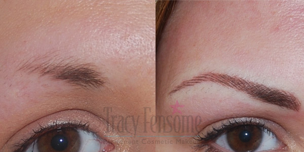 Permanent Eyebrows Before And After Permanent Makeup Milton Keynes